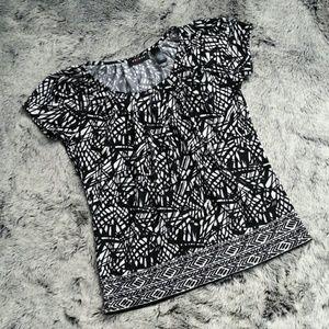 Axcess Tops - Black & White Axcess Shirt