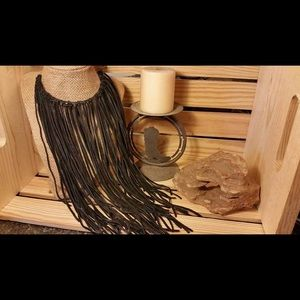 Handmade fringe necklace