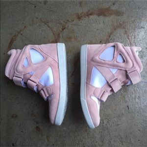 Modern Vice Shoes - Modern Vice pink sneakers with invisible heel