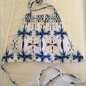 Other - BRAND NEW Printed Cross Criss Bikini Top