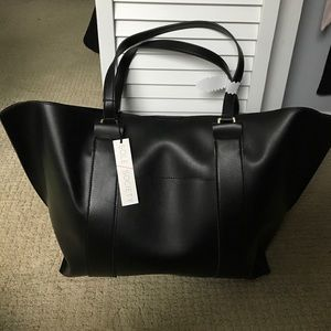 Sole Society Handbags - NEW Black faux leather Sole Society tote bag