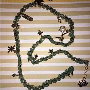 Disney Jewelry - Kidada Leather Disney Couture Tinkerbell Necklace