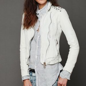 Free People leather studded jacket. Sz S