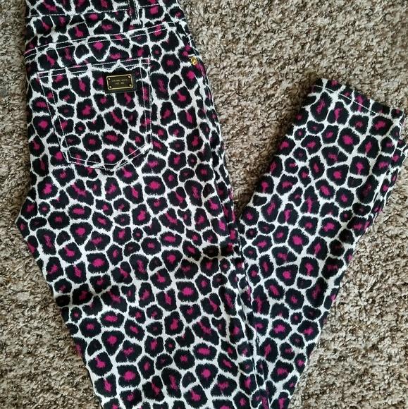 Michael Kors Leopard Print Skinny Jeans
