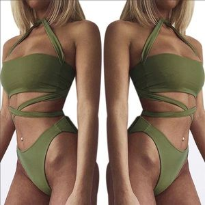 Other - Army Green Swimsuit