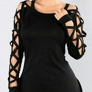 Fashion Nova Tops - Caged sleeve top