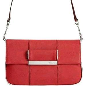 Calvin Klein Handbags - CALVIN KLEIN SAFFIANO LEATHER SHOULDER BAG