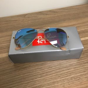 Ray-Ban Accessories - Ray-Ban Aviator Blue-Gradient Flash 55-14 (Small)