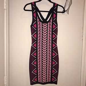 WOW couture Dresses & Skirts - Pink Aztec Bodycon Dress