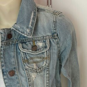Abercrombie & Fitch Distressed Jean Jacket S