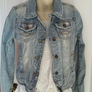 Abercrombie & Fitch Jackets & Blazers - Abercrombie & Fitch Distressed Jean Jacket S