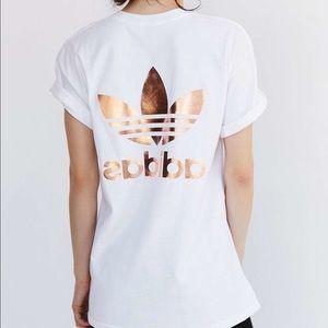 Adidas Tops - Adidas Rose Gold logo tshirt