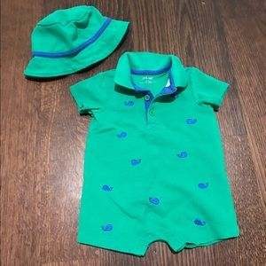 Little Me Other - Little Me Whale Romper & Hat Set