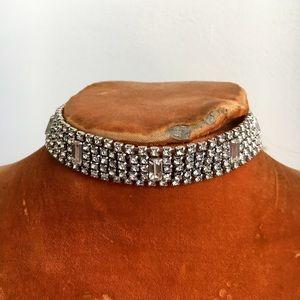 Child of Wild Jewelry - Lustrous Rhinestone Choker✨Vintage✨