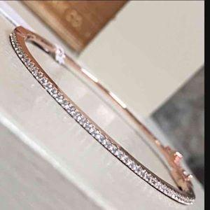 Alain Jewelry - Alainn Pave Hinged Bracelet
