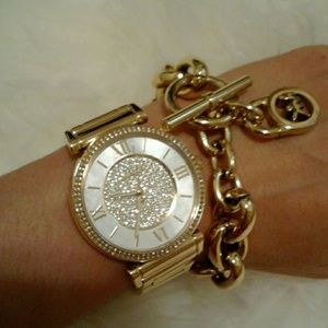 MICHAEL Michael Kors Accessories - 🔴Must Have🔴MK3332 GP Caitlin Pave Crystals Watch