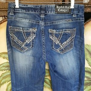 Rock & Roll Cowgirl Denim - Rock & roll cowgirl bling jeans