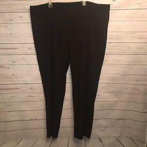 Susan Graver Pants - Susan Graver black dress pants tuxedo stripe