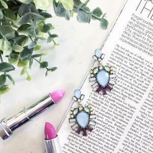 "Erica Rose Jewelry - ""Leslie"" Earrings || Light Blue Crystal Statement"