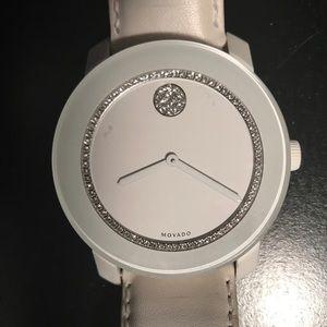 Movado Accessories - White Movado Bold Watch