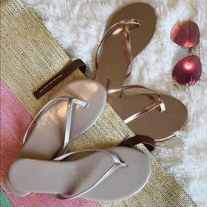 Havaianas Shoes - NEW 🐚 BUNDLE OF TWO PAIRS 🏖 SLIM LINE FLIP FLOPS