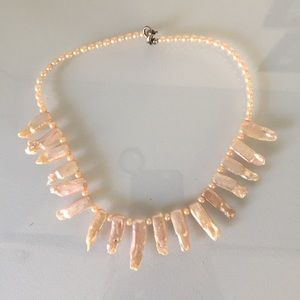 3Pommes Jewelry - White creamy pearl necklace