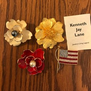 Kenneth Jay Lane Jewelry - Brooches by Kenneth Jay Lane