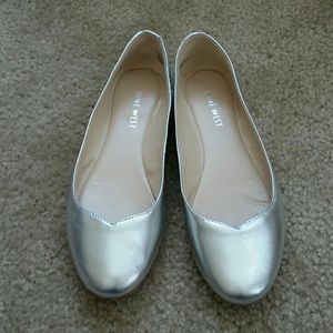 Nine West Shoes - Nine West Silver Ballet Flats