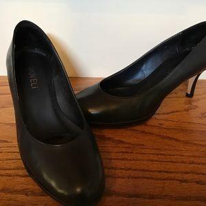 Vaneli Shoes - Vanelli Navy Nappa Leather Platform Pumps