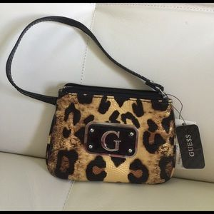 Guess Handbags - NWT GUESS mini bag/gold shine