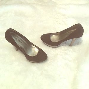 Wild Diva Shoes - Black&silver platform heels