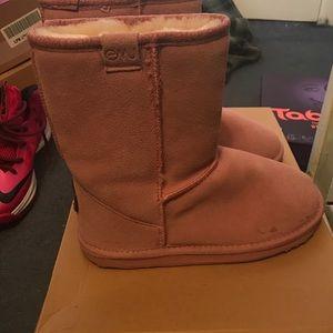 Emu Shoes - Emu pink boots