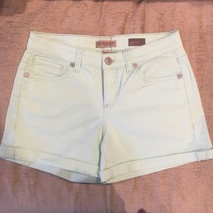 Nine West Pants - Mint green cuffed jean shorts
