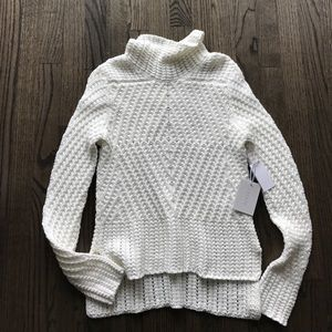 1. State Sweaters - Ivory Mock Turtleneck Sweater