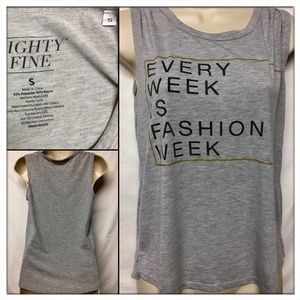Mighty Fine Tops - 🆕MIGHTY FINE Gray tank top. Great Posh N Sip tee