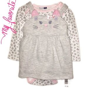 Vitamins Baby Other - 🐱 NEW kitty cat dress! 2 piece set-6 Months