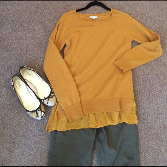 6ae7f44085 garnet hill Sweaters - Garnet Hill Shirttail cashmere sweater