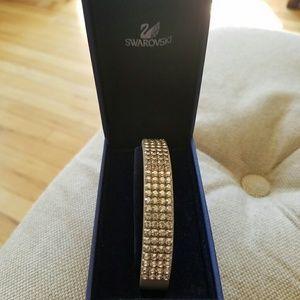 Swarovski Crystal and leather bracelet