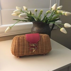 J. McLaughlin Handbags - J.McLaughlin wicker cultch