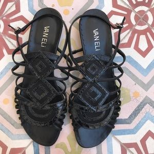 Vaneli Shoes - VANELI BLACK SANDALS SHOES SIZ 7.5N