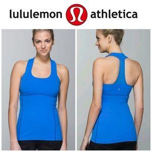 Lululemon Athletica Blue Scoop Neck Tank