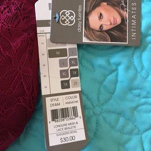 4210e840e30096 Daisy Fuentes Intimates   Sleepwear - NWT Daisy Fuentes wine color strappy  bralette L