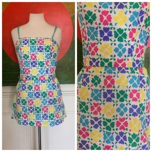 Vintage 70's Romper Beach Playsuit swimsuit
