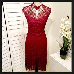Bisou Bisou Dresses & Skirts - NWT Cap Sleeve Lace Midi Dress