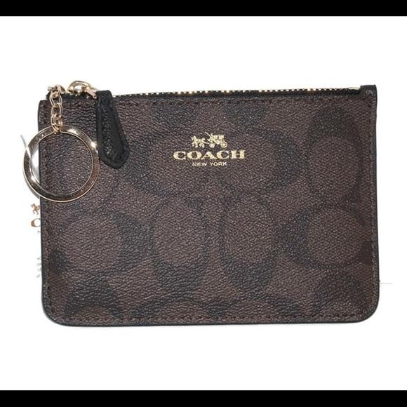 573cce17b8 ... ebay coach signature key pouch wallet pvc 503e1 9e5e4
