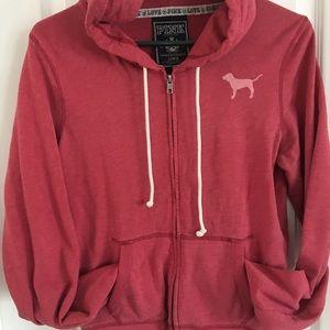 VS Pink Size L Zip Hoodie!