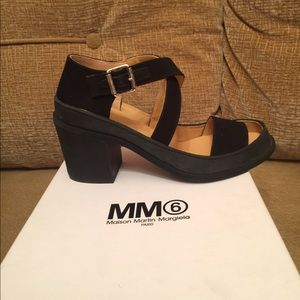 Maison Margiela Shoes - Maison Margiela Black Canvas and Leather Sandals