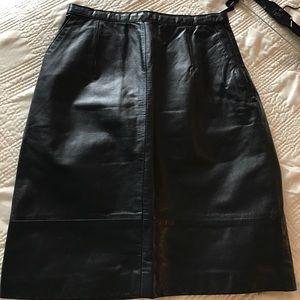 Oleg Cassini Dresses & Skirts - Leather skirt