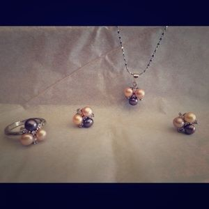 Pearl Costume Jewelry Set