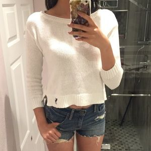 BRAND NEW A&F cropped 3/4 sleeve sweater